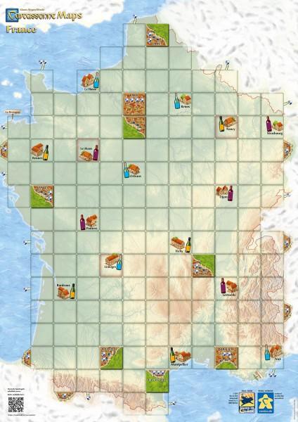 Carcassonne Maps - France (DE/EN)