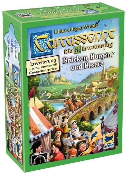 Carcassonne - 8. Erw. - Brücken, Burgen und Basare (neue Edition, DE)