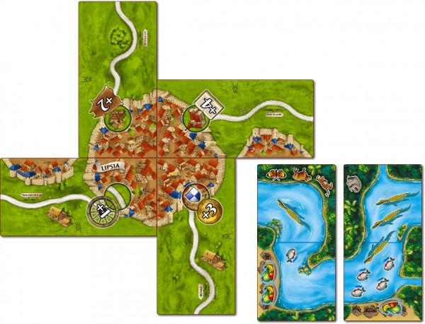 Carcassonne - The Markets of Leipzig & (+ Mini-exp. CC-Amazonas) (DE/EN)