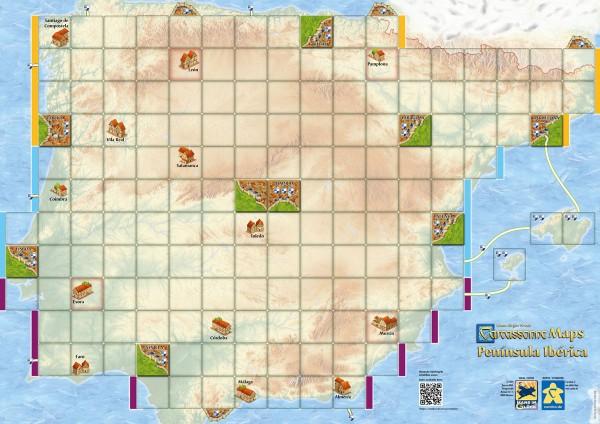 Carcassonne Maps - Península Ibérica (DE/EN)
