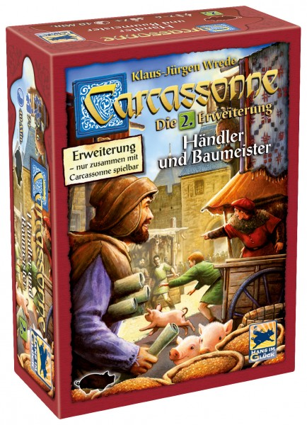 Carcassonne - 2. Erw. - Händler und Baumeister (neue Edition)