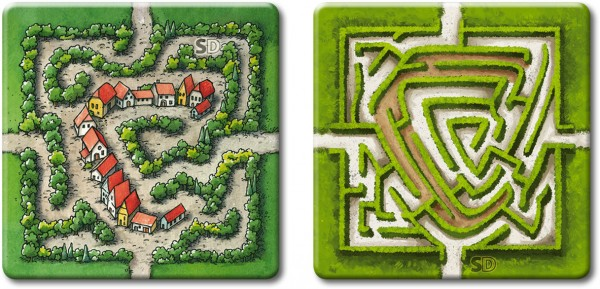 Carcassonne - The Labyrinth (old + new edition, DE/EN)