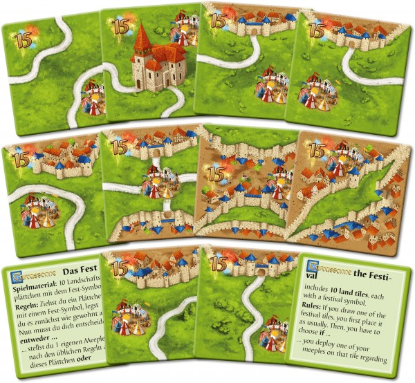 Carcassonne - The Festival II (new edition, DE/EN)