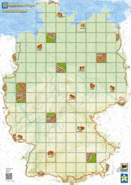 Carcassonne Maps - Germany