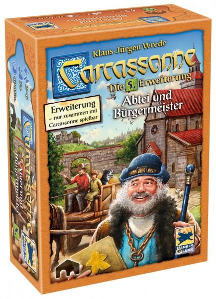 Carcassonne - 5. Erw. - Abtei und Bürgermeister (neue Edition, DE)