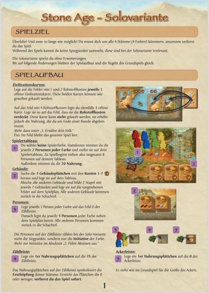 Stone Age - Solo-Variante (print & play, DE)
