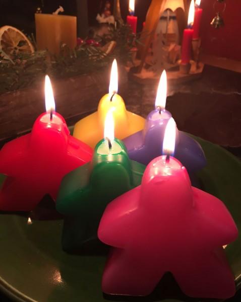 Meeple Candle