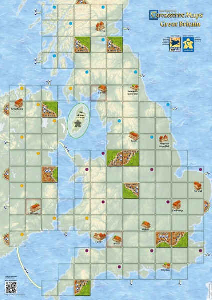 Carcassonne Maps - Great Britain